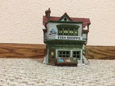 "Dept. 56 ""The Mermaid Fish Shoppe"" from the Dickens Village Series 59269"