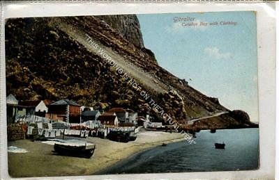 (Gb1156-477) Catalan Bay with Clothing, Gibraltar c1910 VG