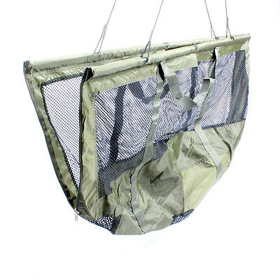 ABODE® DLX Folding XL Carp Fishing Safety Zip Mesh Weigh Sling & Carry Bag