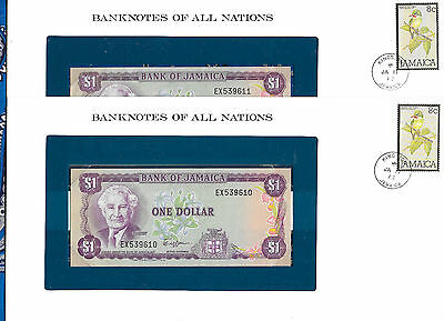 Banknotes of all Nations Jamaica 1 Dollar 1982 UNC P64a sign 6 2 Consecutive