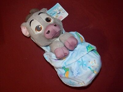 Disney Parks Baby Sven from Frozen in a Babies Blanket 10 inch Plush Doll NEW