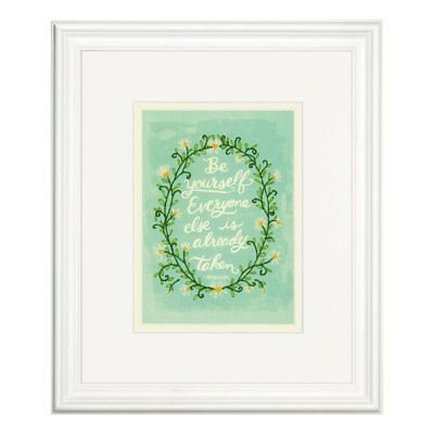 DIMENSIONS  Embroidery Kit: Be Yourself - Oscar Wilde Quote D71-06247