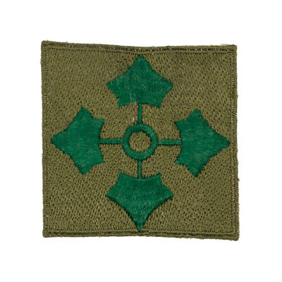 German made post WWII U.S. Army 4th Infantry Division Woven Shoulder Patch
