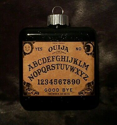 Ouija Board Glass Christmas Ornament Witch Wizard Wicca Party Decoration Prop