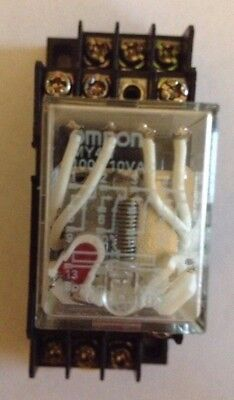 Omron MY4N Cube Relay & PYF14A Socket Base 100/110 VAC