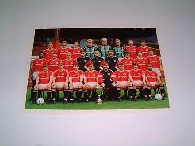 Manchester United Fc 1991-92 Squad Press Or Club Issued Photograph