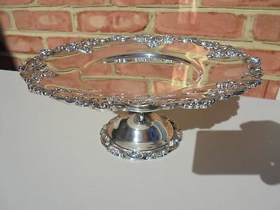 Vintage Wallace Baroque Silverplate Cake Stand Salver