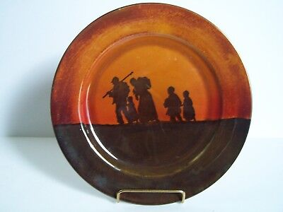 Royal Doulton Series Ware Pioneer Traveling Family Porcelain Plate