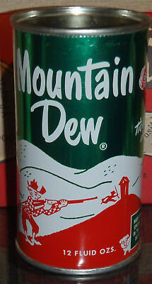 Very Clean Mountain Dew Soda Can Top Cut Out Vibrant Colors