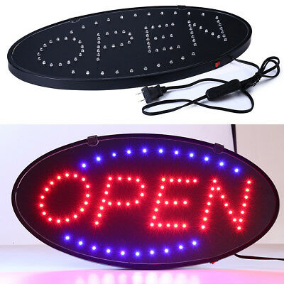 2018 BRIGHT Oval LED Open Store Restaurant Business Bar Light Sign neon switch