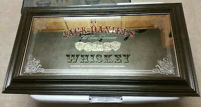 Jack Daniels Whiskey Vintage Bar Pub Mirror Painted Collectible Rare