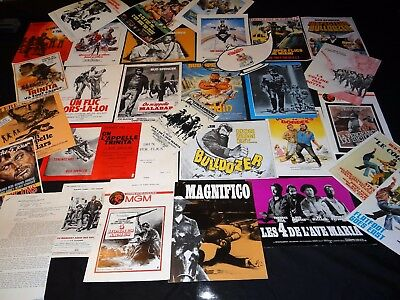 terence hill bud spencer tres rare lot 30 scenarios presse cinema