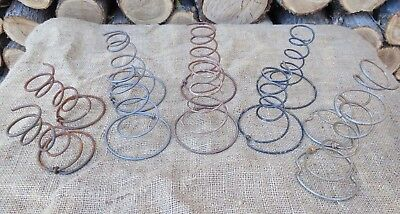 Lot of 10 Vintage Bed Springs~Variety Pack~Rusty Tornado Hour Glass Shabby Farm