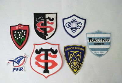 ECUSSON PATCH rugby top 14 ffr metro racing asm clermont castre olympique