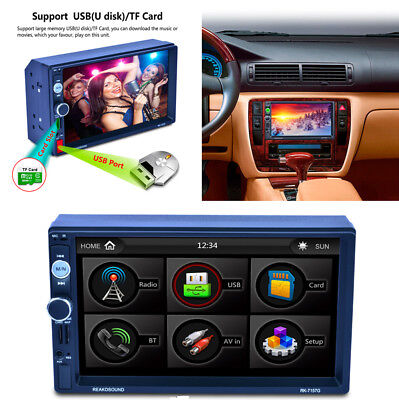 """7"""" 2 Din Car GPS Navigation MP5 MP3 Radio Player With Map of North America Free"""