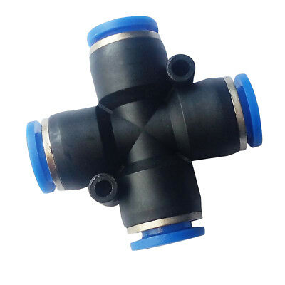 8 mm OD Air Pneumatic Push Connect Fitting Union Cross Connector