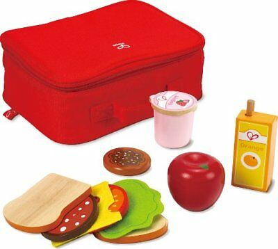 Hape Lunch Box Kid's Wooden Kitchen Play Food Set and Accessories
