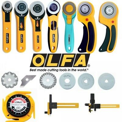Olfa Rotary Cutter 18mm, 28mm, 45mm & Compass Cutter + Replacement Blades