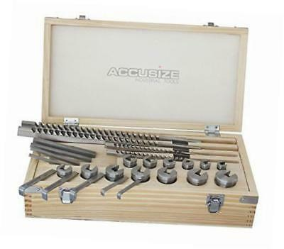 accusize - no.70 metric hss keyway broach sets in fitted box, 72 combinations,