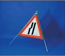 "750mm Roll Up Sign ""Road Narrows Left"""