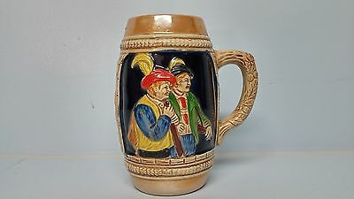 Vintage Figural Wall Pocket German Beer Stein Peach Luster Vase Japan UNUSUAL