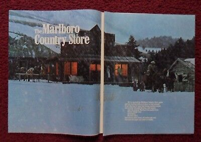 1982 Print Ad Marlboro Man Cigarettes ~ 7 Page Country Store Western Cowboys