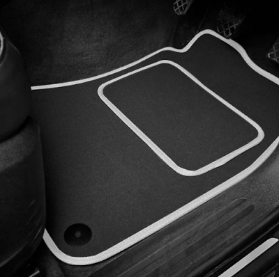 High Quality Car Floor Mats Set In Black/Silver To Fit MG Midget 1275 (1966-74)