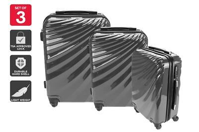 NEW Orbis Luggage Set 3-Piece Deluxe UltraTough Spinner Travel Accessories