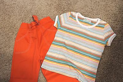 EUC Vintage Health-Tex Retro 70'-80's Made in USA Coordinating Outfit Size 6x-7