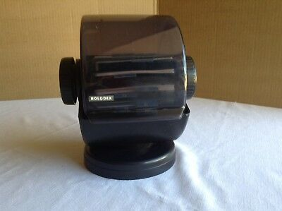 Vintage Rolodex Model No. SW-24C 500 Card Covered Rotary Swivel File Card Index