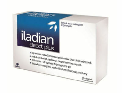 ILADIAN DIRECT PLUS 10 tabs Thrush Bacterial Vaginosis ALBOTHYL