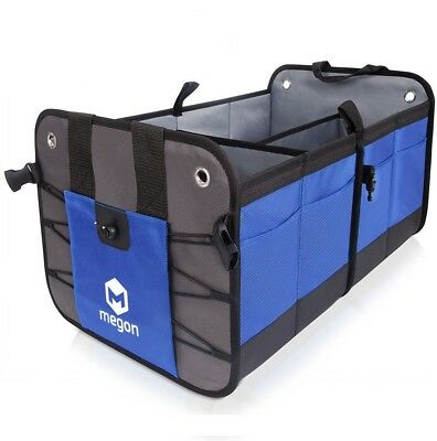 Blue Large Anti Slip Car Trunk Boot Storage Organiser Case Tool Bag UK Seller