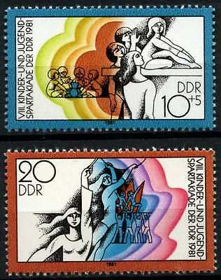 East Germany DDR 1981 SG#E2370-1 Sports Day MNH Set #D59926