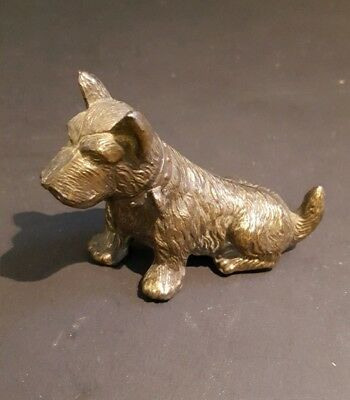 Vintage Scottie Brass Dog Paperweight  2 1/4 inch tall  ***So Cute***