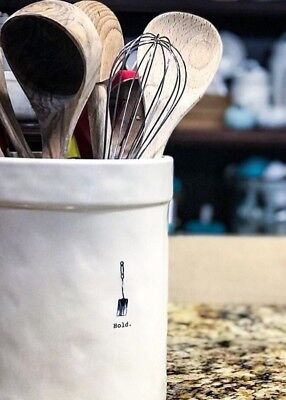 """New 2017 Rae Dunn by Magenta """"HOLD"""" (large) Utensils Canister"""