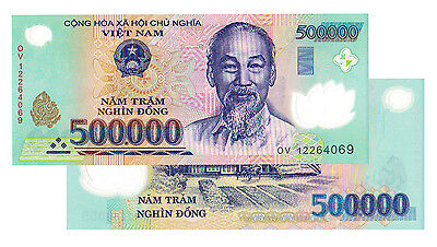 10,000,000 VIETNAM DONG (20x 500,000) BANK NOTE VIETNAMESE CURRENCY UNCIRCULATED