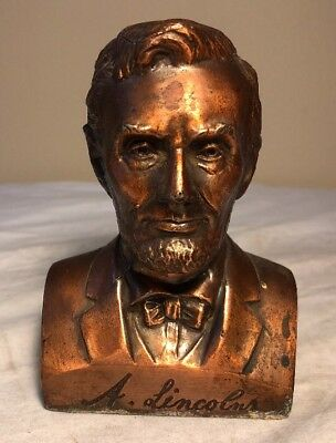Vintage Abe Lincoln Coin Bank Emmet County Estherville Ringsted Iowa