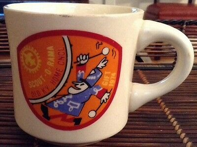 Boy Scout Coffee Mug Cup 1974 Scout-O-Rama Old KY, Home Council B.S.A. -VINTAGE