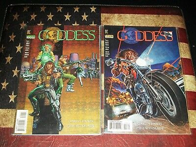 Goddess Vertigo Comic Books Lot Set 1 2 3 4 5 6 7 8 VF/NM CONDITION Garth Ennis