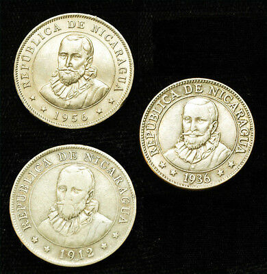 Lot of (3) Nicaragua Coins Free S&H