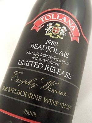 1988 TOLLANA Beaujolais Limited Release Red Blend Isle of Wine