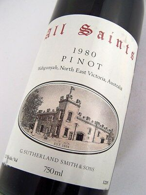 1980 ALL SAINTS Pinot Noir Pinot Meunier Shiraz A Isle of Wine