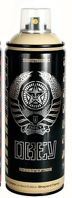 Shepard Fairey Obey Giant x Montana CREAM Spray Paint Can in Case 1 of 500 Made!