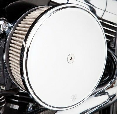 Arlen Ness Big Sucker Stage II Air Filter Kit W/Cover Red Filter Chrome Twin Cam
