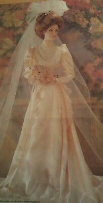 FRANKLIN MINT HEIRLOOM DOLL THE GIBSON GIRL BRIDE 23 '' Doll Beautiful Condition