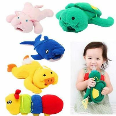 Cute Soft Plush Animal Keep Warm Pouch Cover Holder Baby Feeding Bottle JA