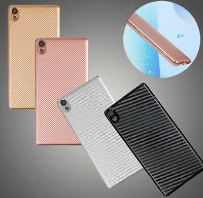 For Sony Xperia XA2 Ultra L2 Luxury Carbon Fiber Silicone Soft Rubber Case Cover