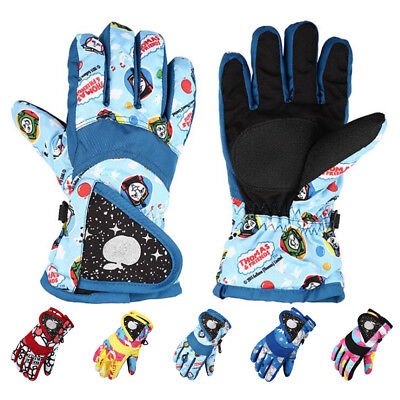 Winter Wind/Waterproof Ski Gloves Child Snow Sports Gloves Xmas Children Gifts
