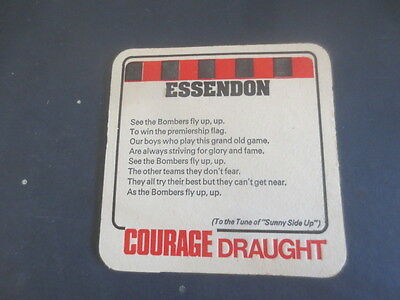1 only Courage Brewery / Essendon Football Club,Victoria 1974 Issuecoaster