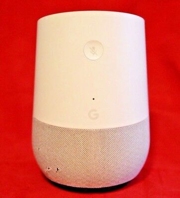 Google Home Hands Free Personal Voice Assistant White Slate Base